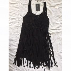 Black Macramé Dress